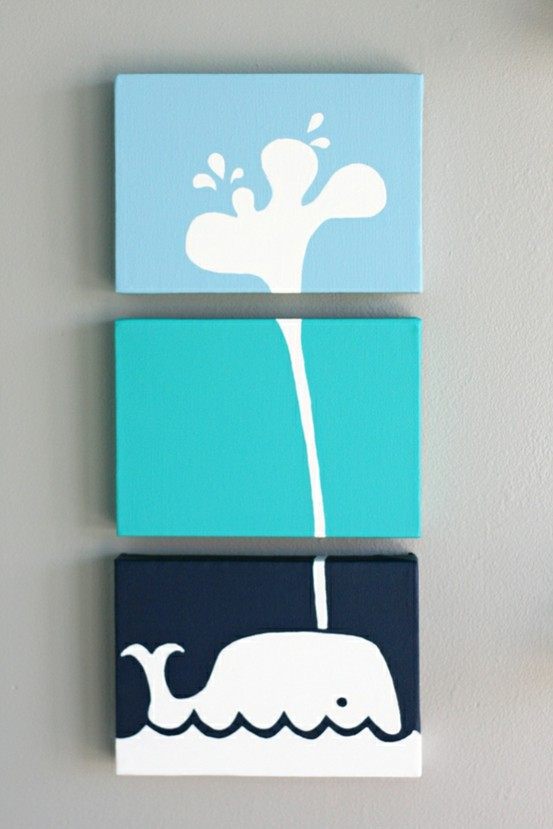 Diy Wall Art For Toddlers : Easy canvas art
